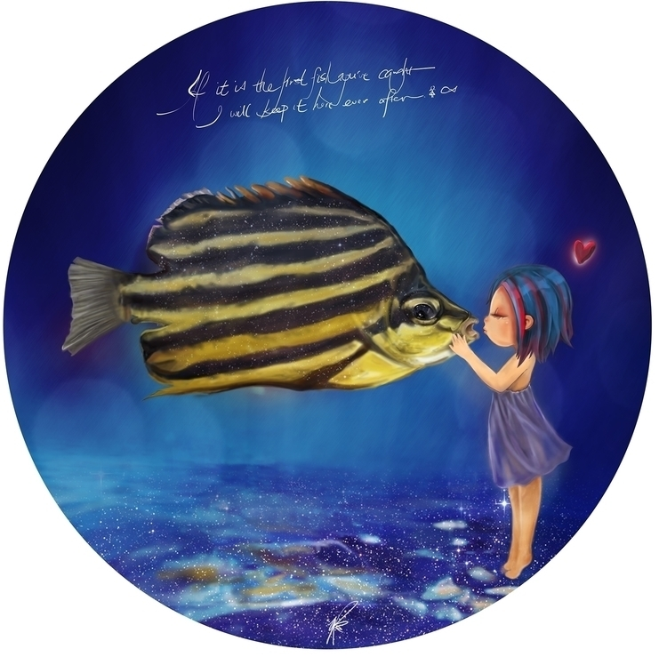 Fish - fish, kiss, underwater, circle - family_anky | ello