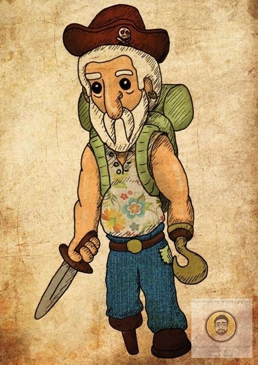Pirate Bill Adobe Illustrator - pirate - whistlingbear | ello