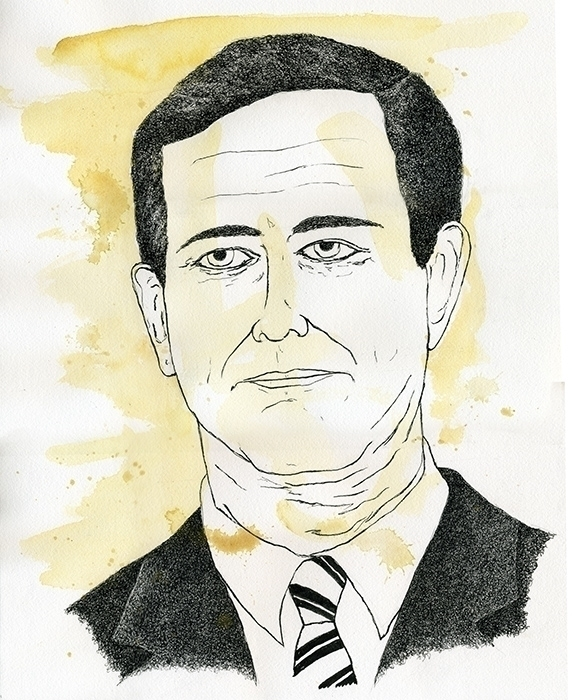 Rick Santorum Illustration - illustration - gtnelson | ello