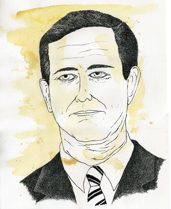 Rick Santorum Illustration - illustration - gtnelson   ello