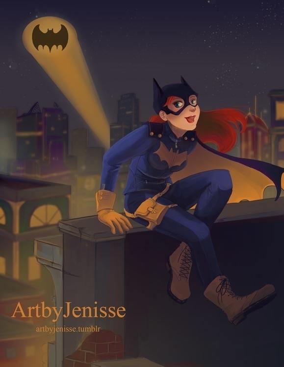 illustration, painting, batgirl - artbyjenisse | ello