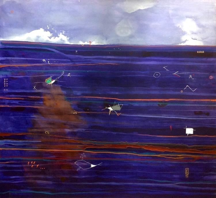 Ocean Chronicles II - painting - scheufler | ello