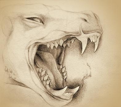 Fangs - original illustration A - rocky-1221 | ello
