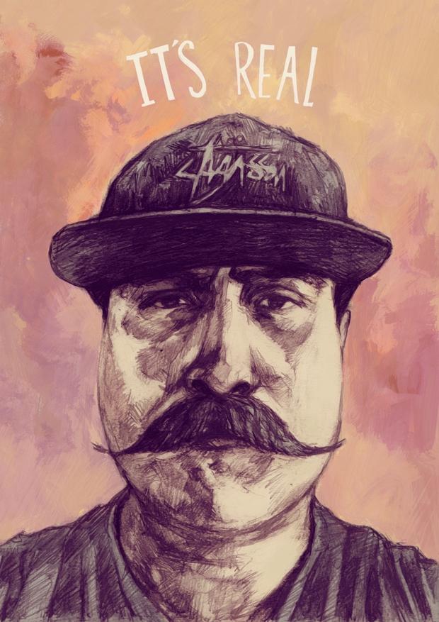 illustration, portrait, mustache - tomsoftley   ello