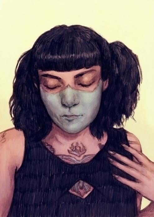 illustration, portrait, tattoo - tomsoftley | ello