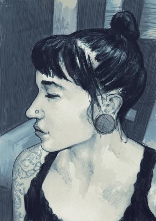 tattoo, portrait, illustration - tomsoftley | ello