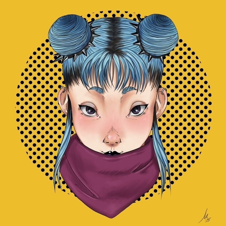 Clementine portrait - illustration - marinukpencilpower | ello