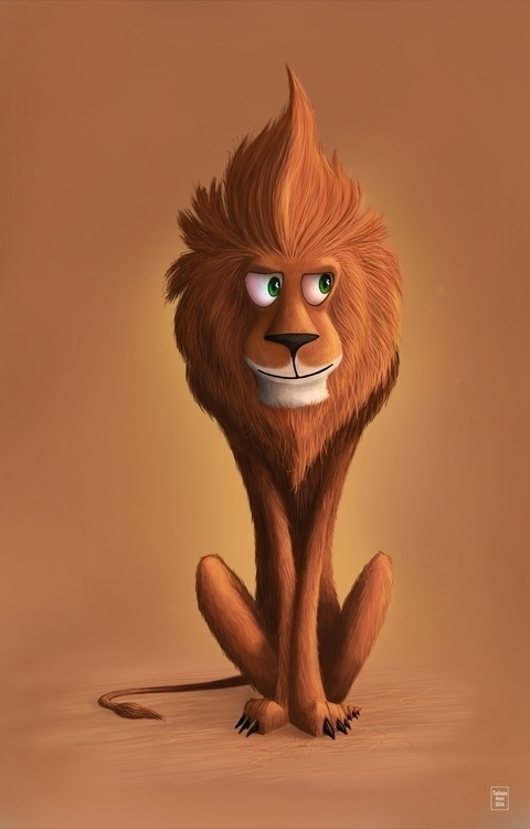 Lion Photoshop WACOM - illustration#digitalart#design#characterdesign#photoshop#painting#davisvrworks#drawing#conceptart - tanbeenamin   ello