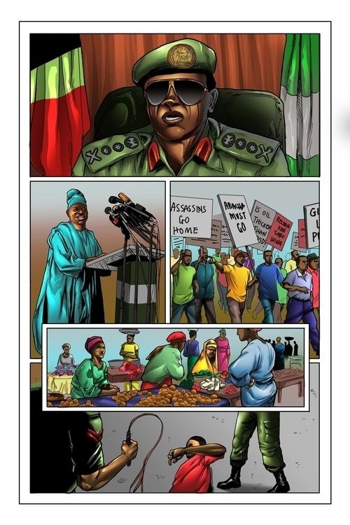 Atlanta 1996, Nigerian Heroes - illustration - woody-2265   ello