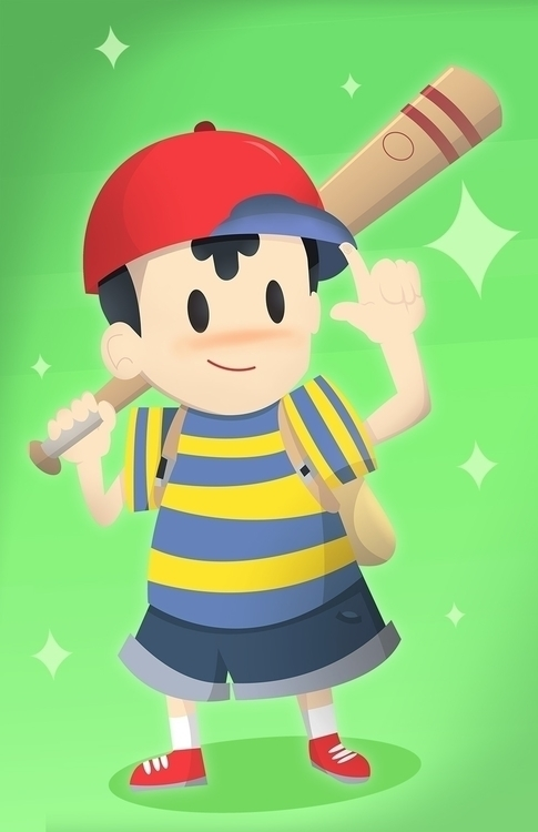 Ness - Nintendo, Earthbound, Fanart - chappy-7247 | ello