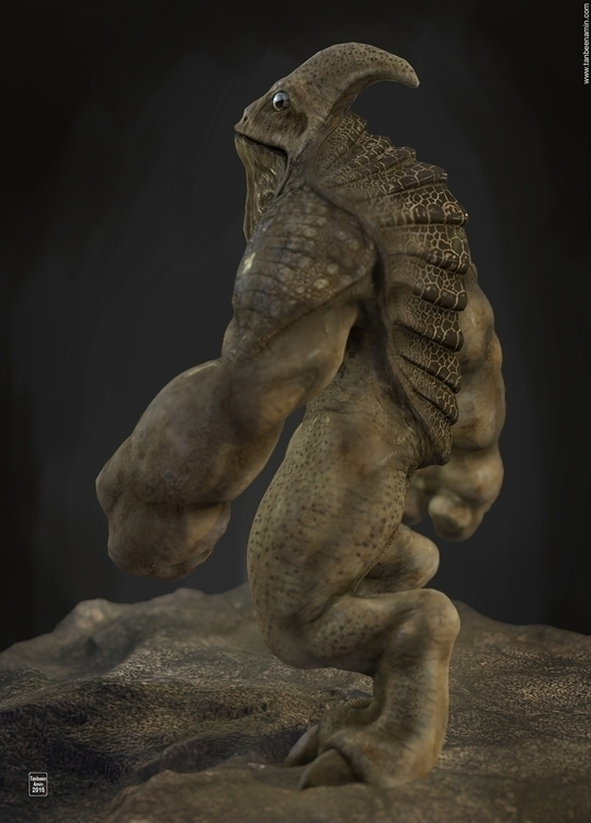 Lacertilia sapiens ZBrush, Maya - tanbeenamin | ello