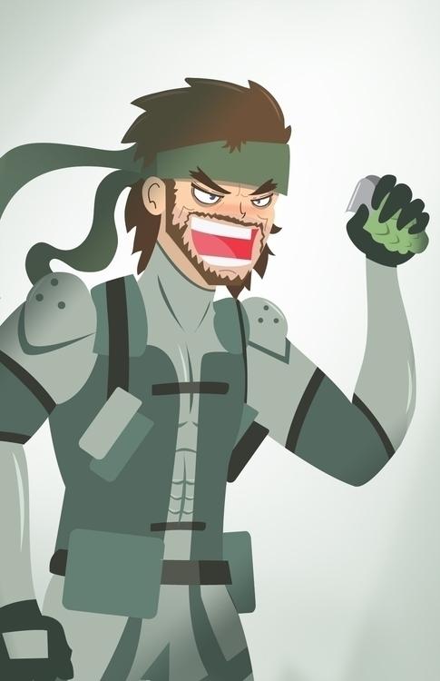 Solid Snake - Solidsnake, metalgearsolid - chappy-7247 | ello