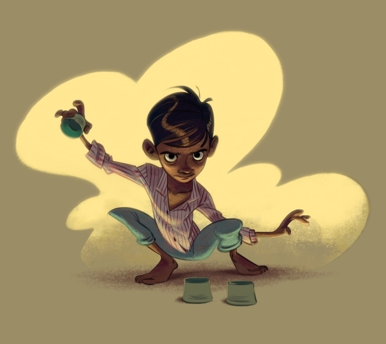 Indian magician - indian, characterdesign - carrececile | ello
