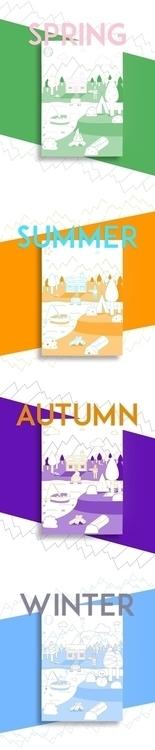 Seasons Camp Illustrations - Ju - lady_m   ello
