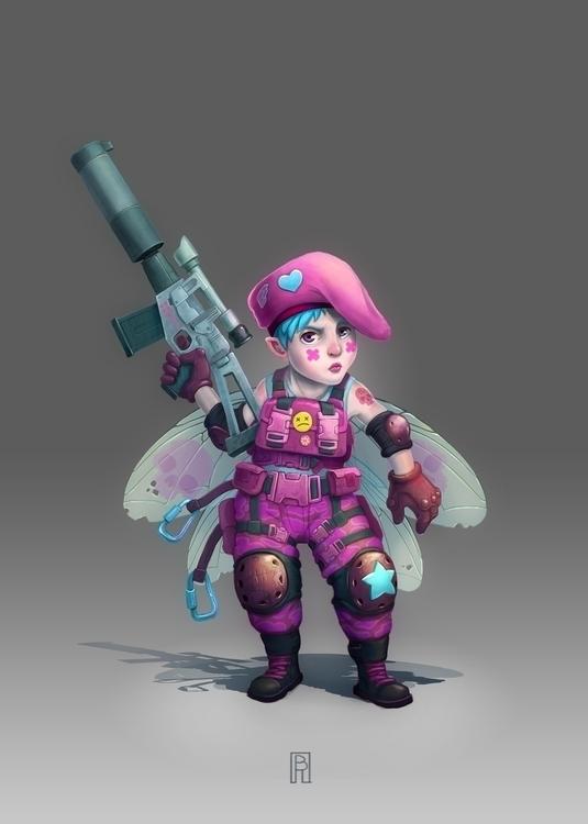 Fairy commando - illustration, characterdesign - boris_rogozin | ello