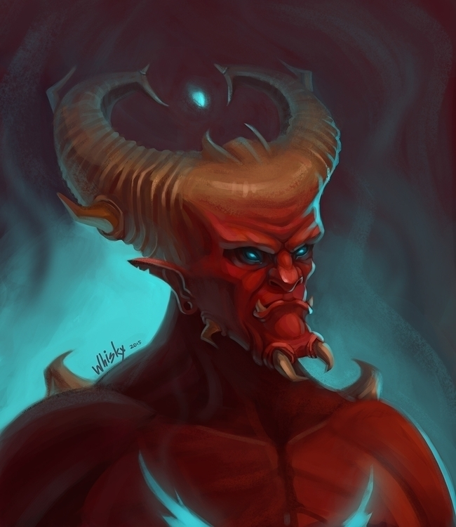 Demon - illustration, conceptart - alexandratokaruk | ello