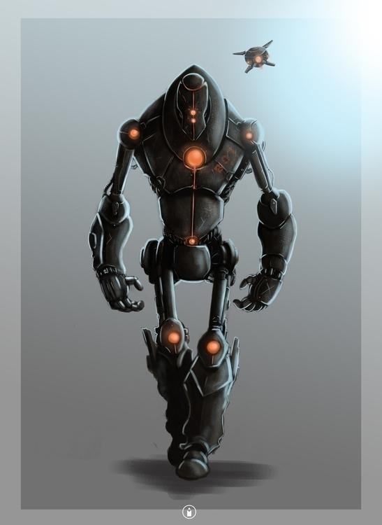 Robot drone - illustration, characterdesign - bryanmahy | ello