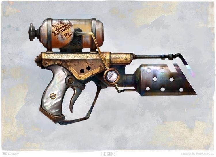 Flamethrower. Concept Art Guns - karambola-8955 | ello