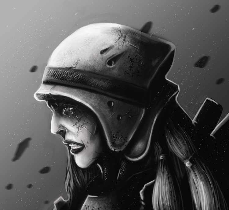 Tearful Warrior - illustration, painting - bryanmahy | ello