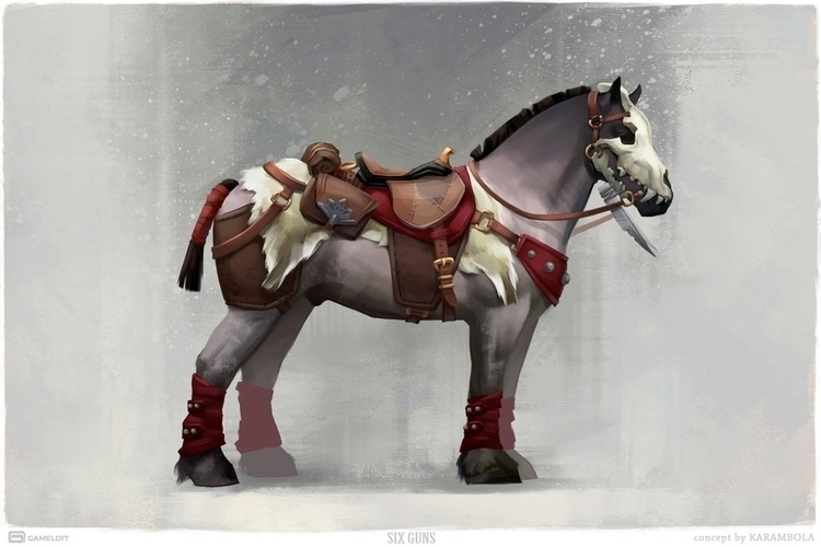 Snow Horse. Concept Art Guns, G - karambola-8955 | ello