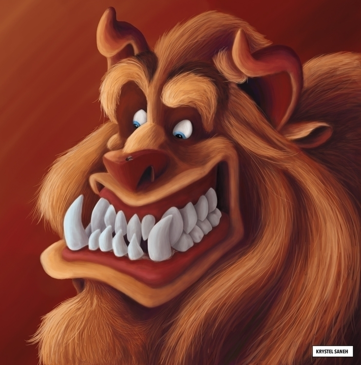 beast Beauty Beast 3D - illustration - christelsaneh | ello