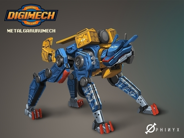 Digimech revealed!! Visit Faceb - kakadede | ello