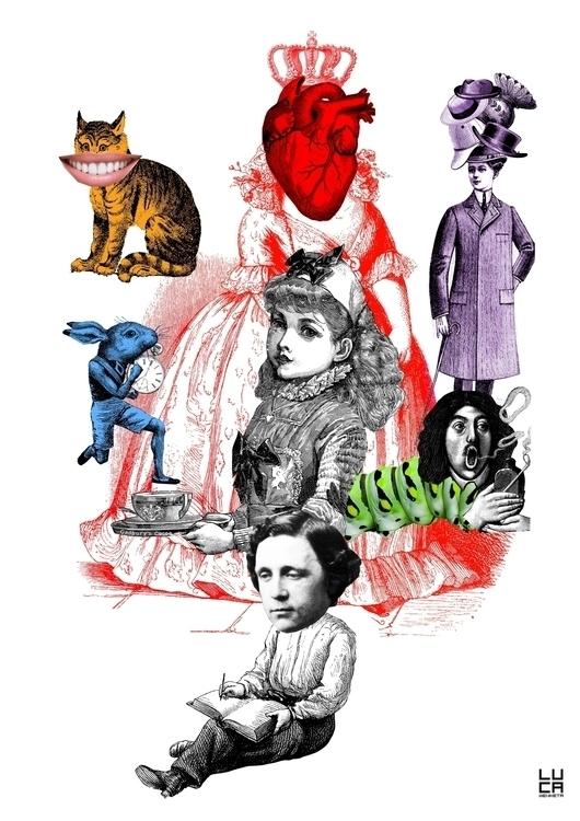Allice Wonderland - collage, collageart - lucamendieta | ello