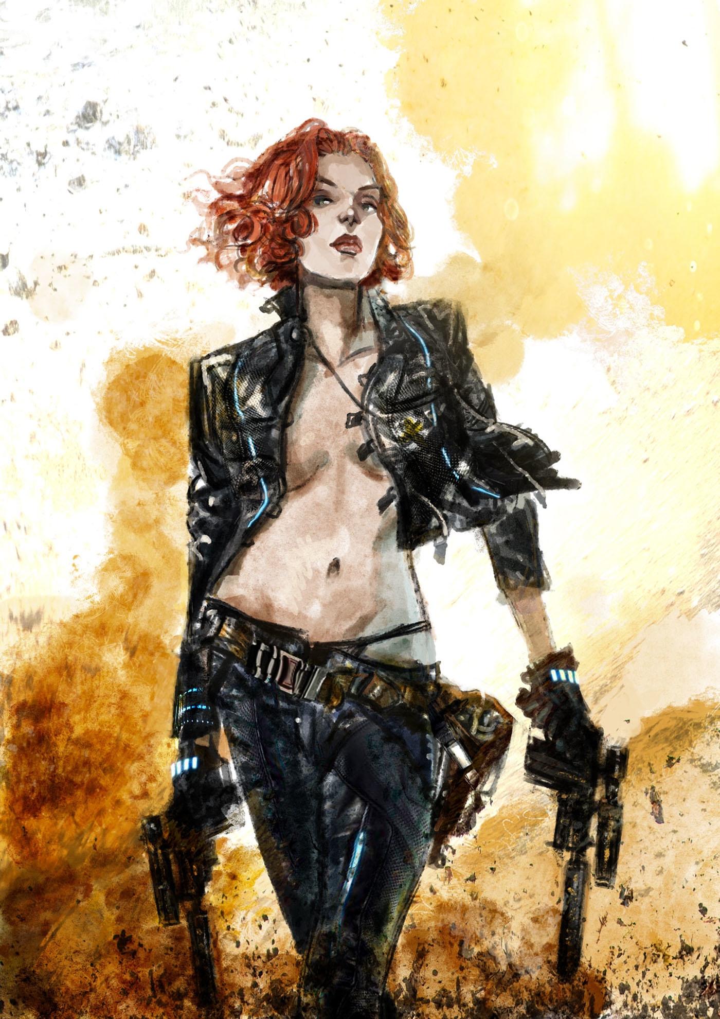 Black Widow - illustration, digitalart - danieleafferni | ello