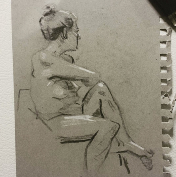 Live figure drawing - figuredrawing - josehdz_illustration | ello
