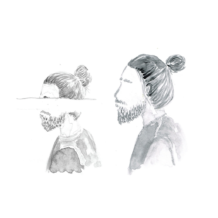 favourite man bun - illustration - fandesai | ello