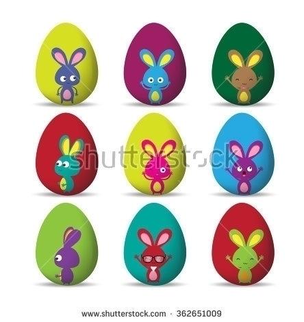 Set Easter eggs happy easter bu - ngocdai86   ello