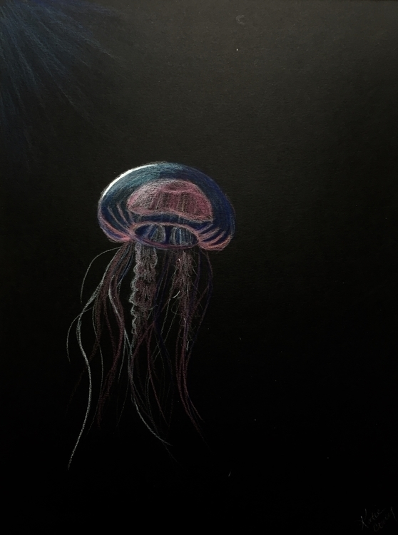 Jellyfish - prismacolorpencils, jellyfish - katiecorley14 | ello