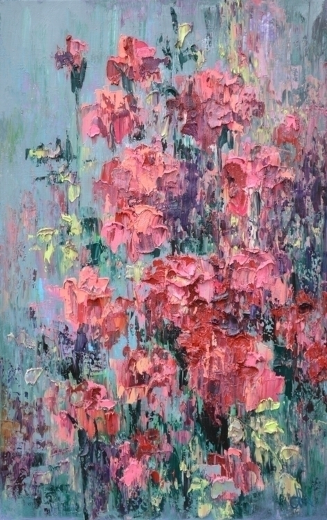 Roses. 110x70.Oil canvas. paint - tanya_vasilenko | ello