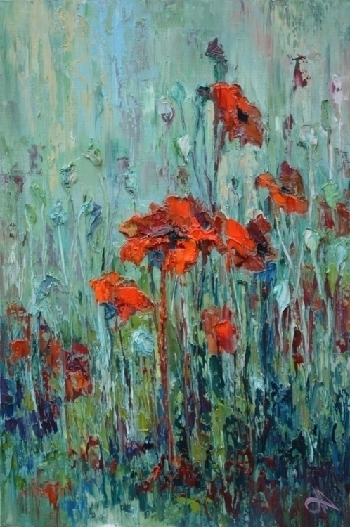 Poppies. 90x60. Oil canvas. pai - tanya_vasilenko | ello