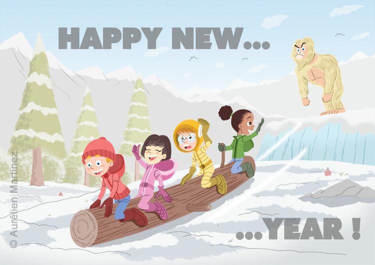 Happy Year Card, January 2016 - illustration - aurelienmartinez | ello