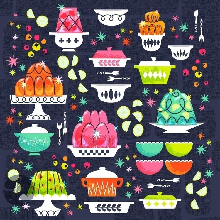 Gelly Molds - illustration, pattern - katuno | ello