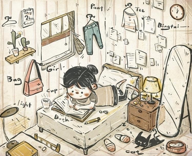 Hoilday - holidaytime, illustration - bingtai | ello