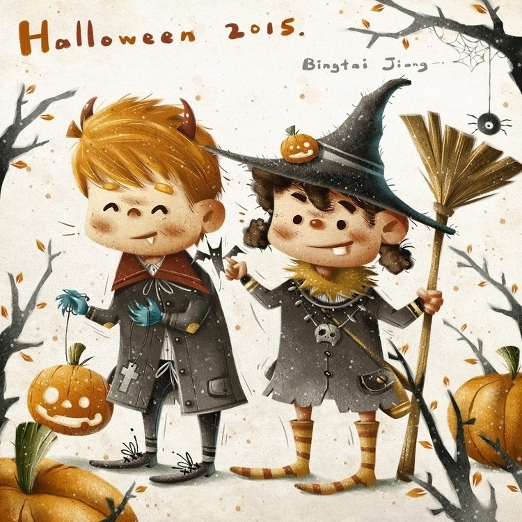 Halloween Party - illustration, halloween - bingtai | ello