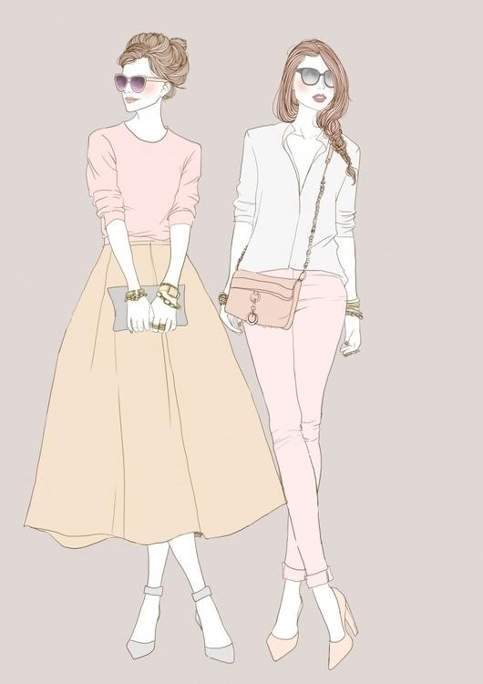 fashionillustration, fashionart - maweeborrs | ello
