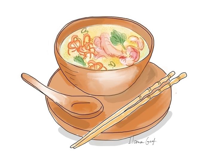 Asian soop - Soup, Food, foodillustration - ilanagraf | ello