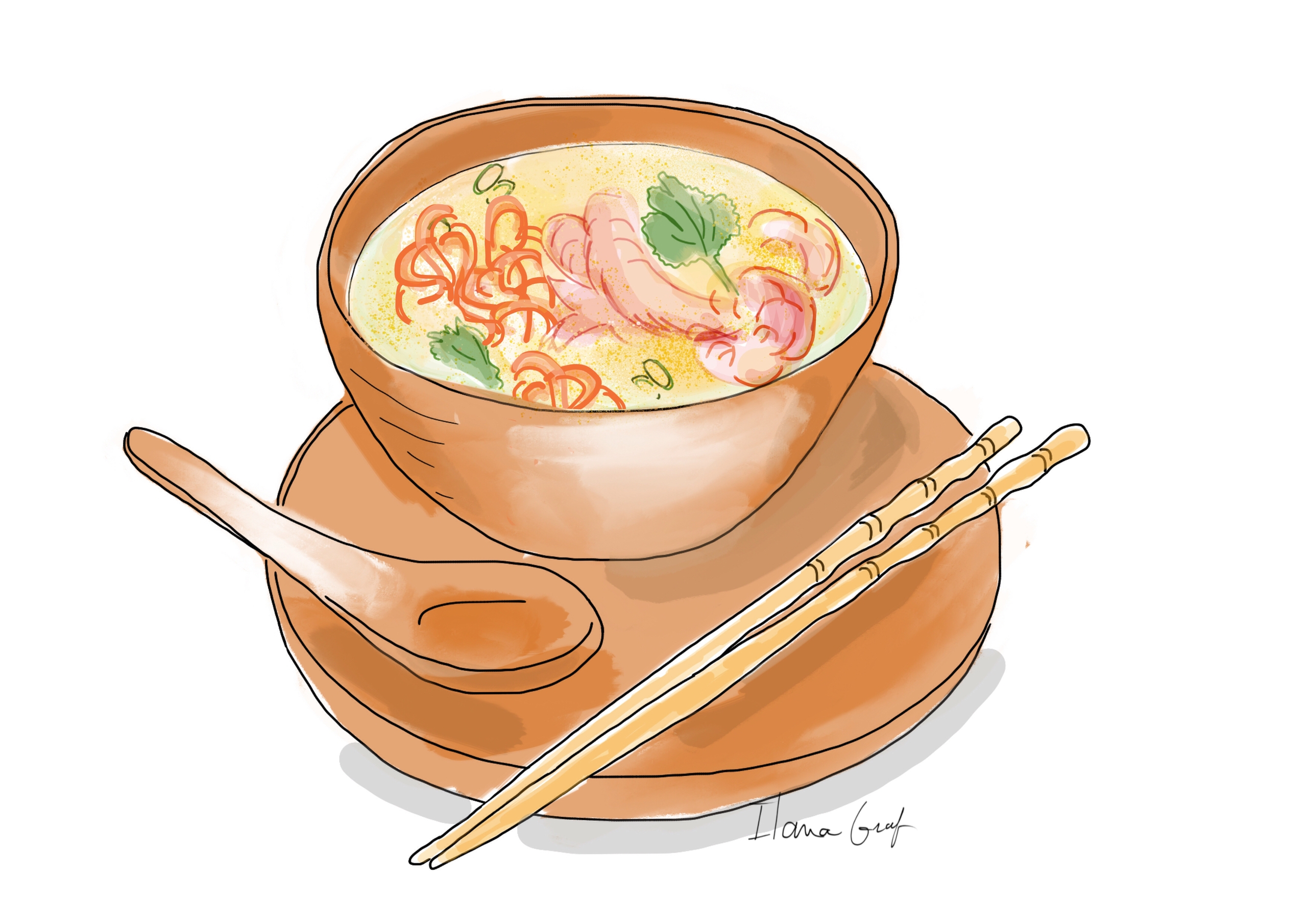Asian soop - Soup, Food, foodillustration - ilanagraf | ello