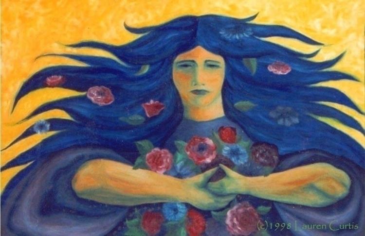 Aradia, oils - painting, oilpainting - laurencurtis | ello