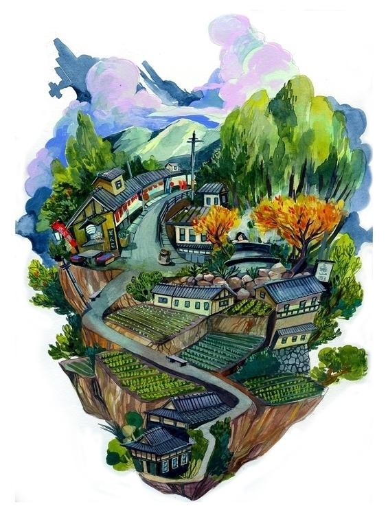 Ohara Island - malisasuchanya, illustration - lisabanana | ello