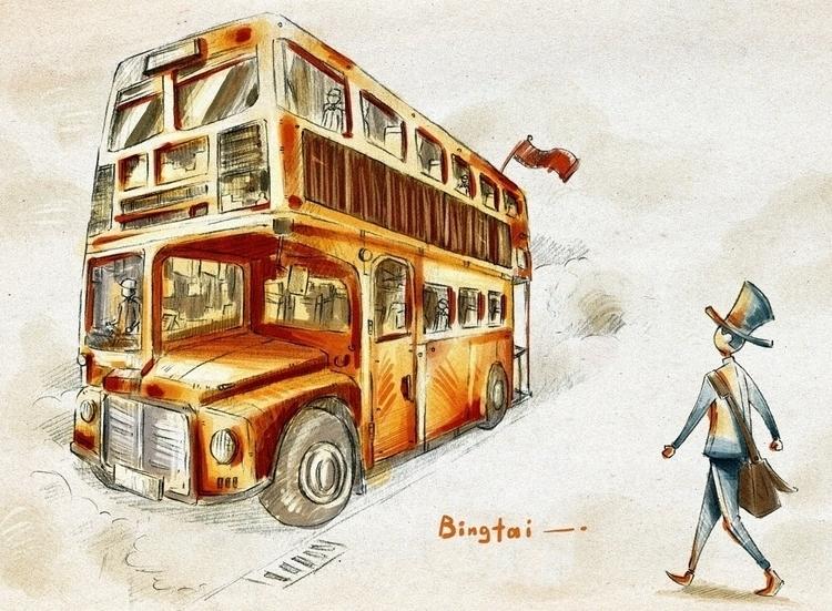 travel - timetravel, pencildrawing - bingtai   ello
