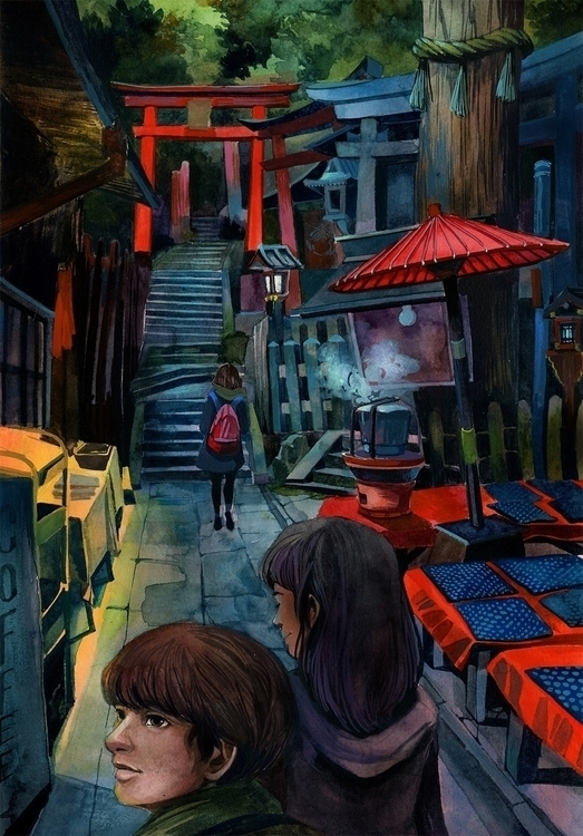 Fushimi Inari - malisasuchanya, illustration - lisabanana | ello