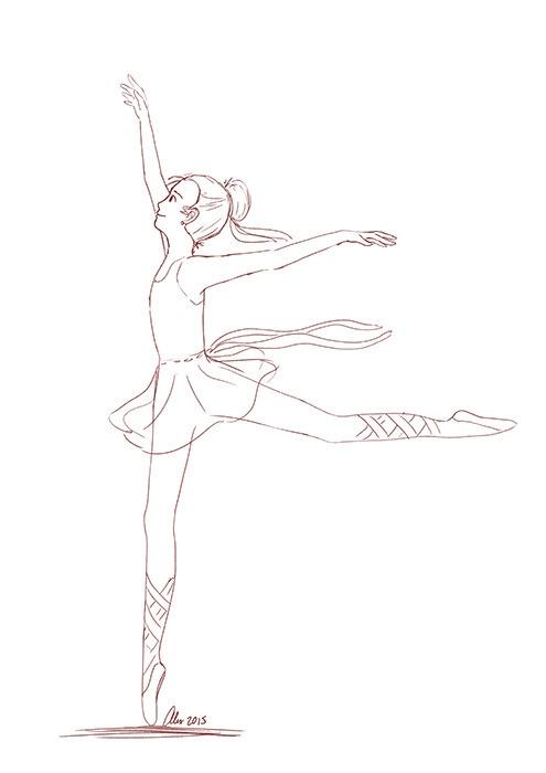 design - ballerina, girl, doodle - alexandrasketch | ello
