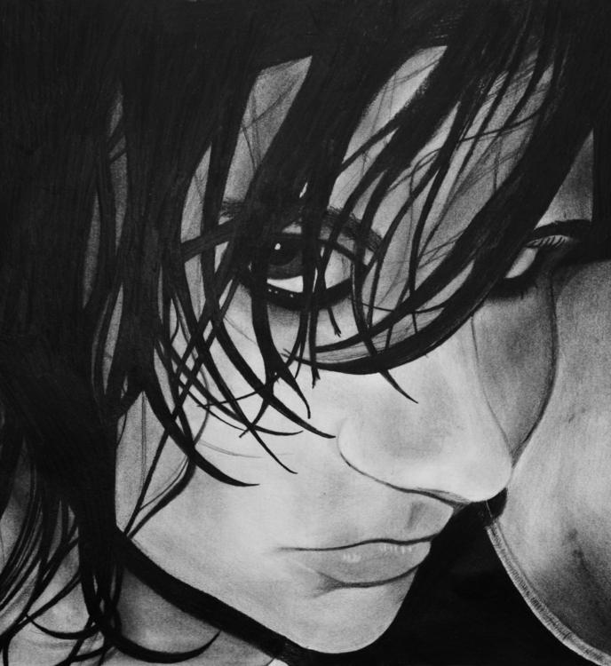 portrait drew, year highschool - cervidae-1054 | ello