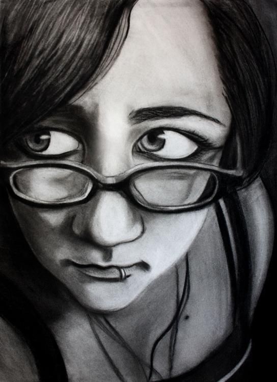 illustration, portrait, charcoal - cervidae-1054 | ello
