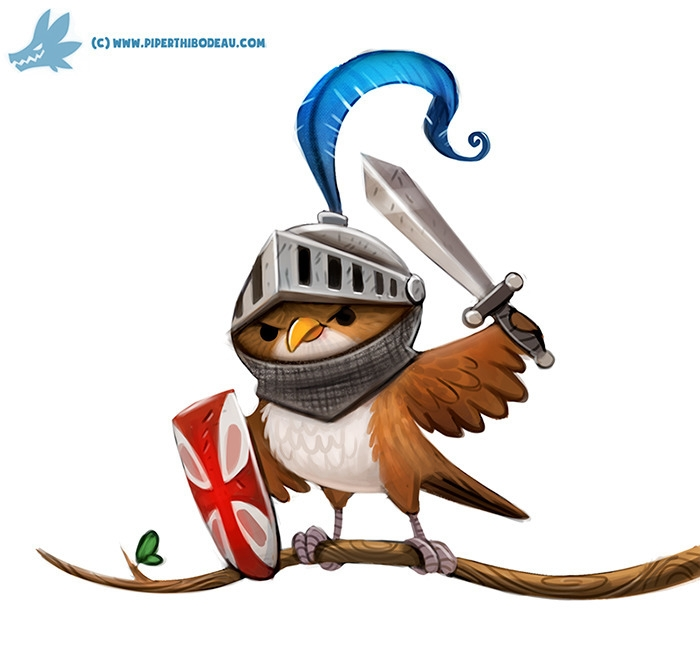 Daily Paint Knightingale - 1170. - piperthibodeau | ello