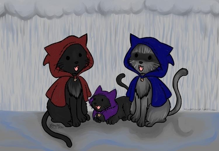 cat family nice day rain adorab - sakurabell | ello